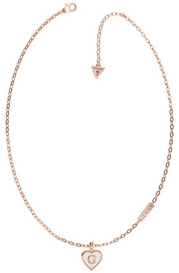 Guess G Shine | Rose PVD Necklace Heart UBN79036