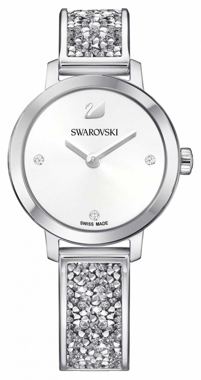 Swarovski | Cosmic Rock | Stainless Steel Bangle Bracelet | White Dial 5376080