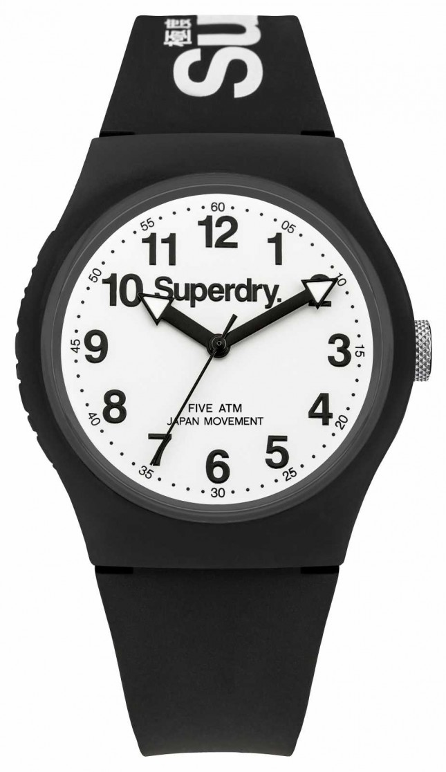 Superdry Mens Urban Black Strap White Dial SYG164BW