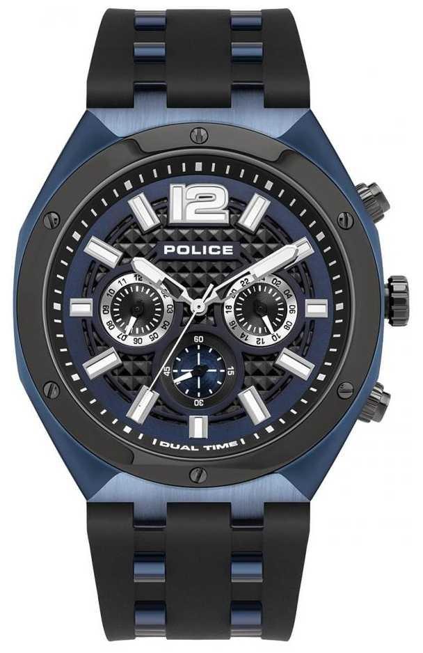 Police Kediri | Black Rubber Strap | Blue Dial 15995JSBLU/03P