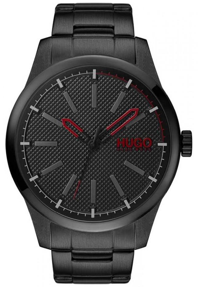 HUGO #INVENT | Black Steel Bracelet | Black Dial 1530148