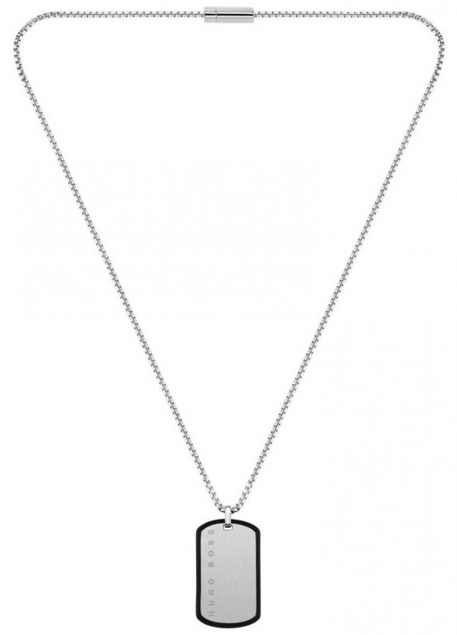BOSS Jewellery ID Dog Tag Stainless Steel Necklace 610mm 1580050