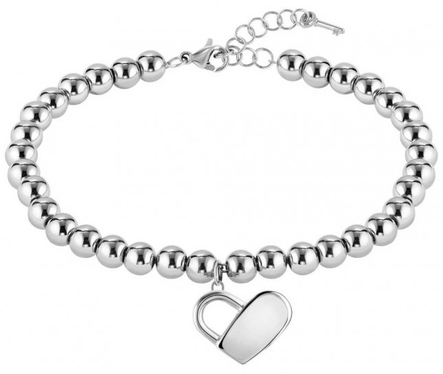 BOSS Jewellery Beads Collection Heart Stainless Steel Bracelet 180mm 1580075