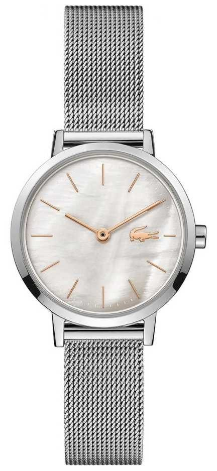 Lacoste Women's Moon   Stainless Steel Mesh   Mother Of Pearl Dial 2001121
