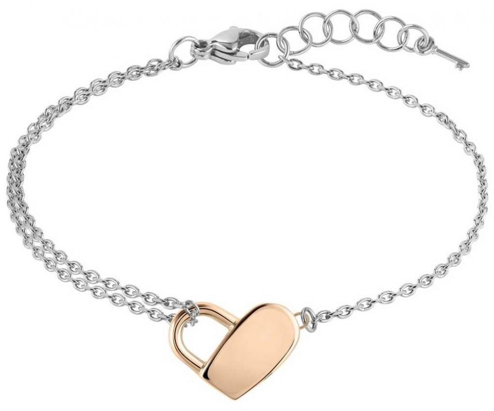 BOSS Jewellery Soulmate Steel Heart Two Tone Bracelet 180mm 1580066
