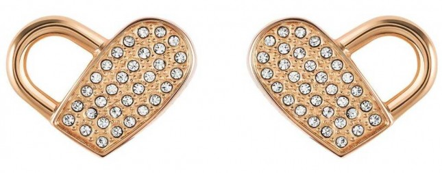 BOSS Jewellery Soulmate  Heart Rose Stud Earrings 1580074