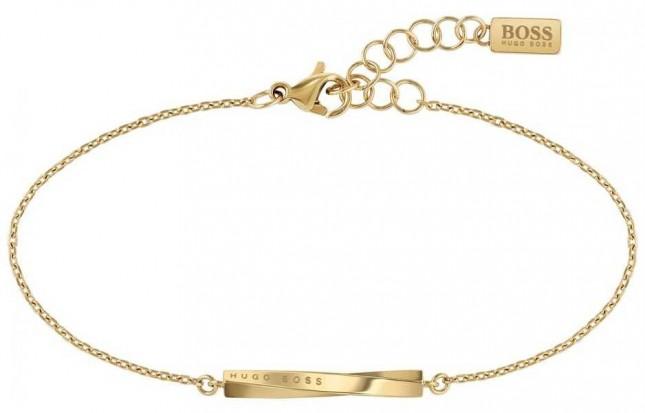 BOSS Jewellery Signature Gold PVD Steel Bracelet 180mm 1580007