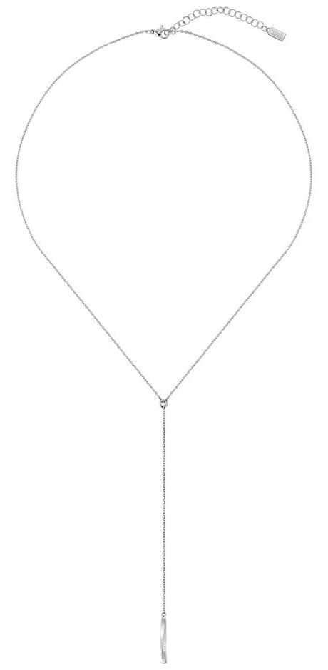 BOSS Jewellery Signature  Stainless Steel Drop Necklace 1580010
