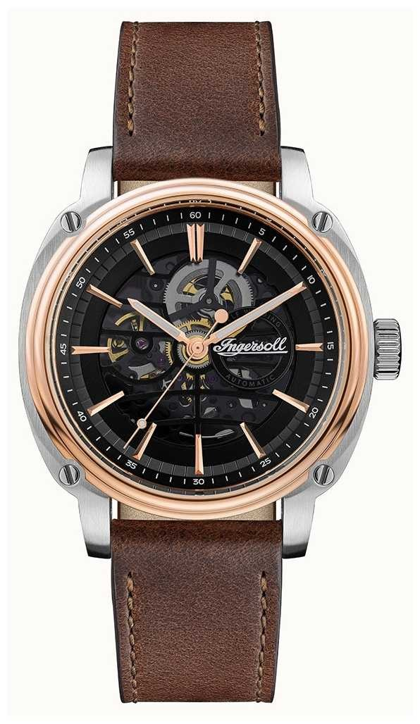 Ingersoll Men's   The Director   Automatic   Brown Leather Strap I09901