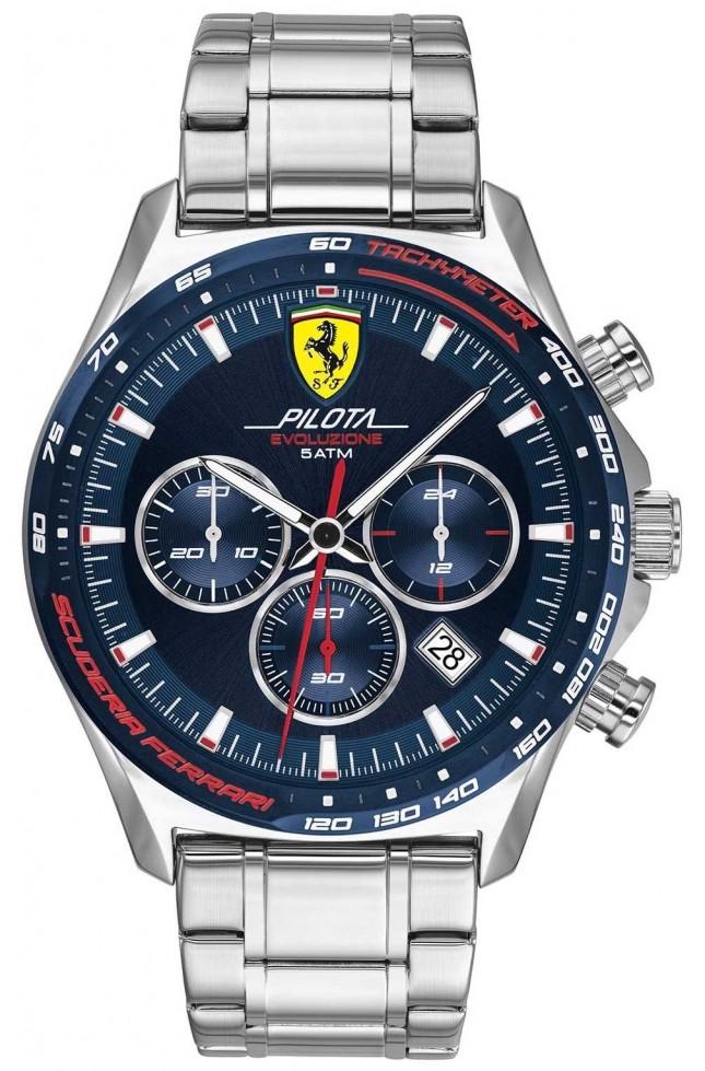 Scuderia Ferrari | Men's Pilota Evo | Stainless Steel Bracelet | Blue Dial 0830749