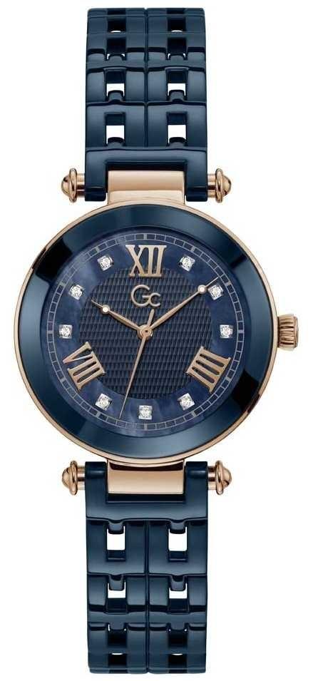 Gc   Women's PrimeChic   Blue Ceramic Bracelet   Blue Dial   Y66005L7MF