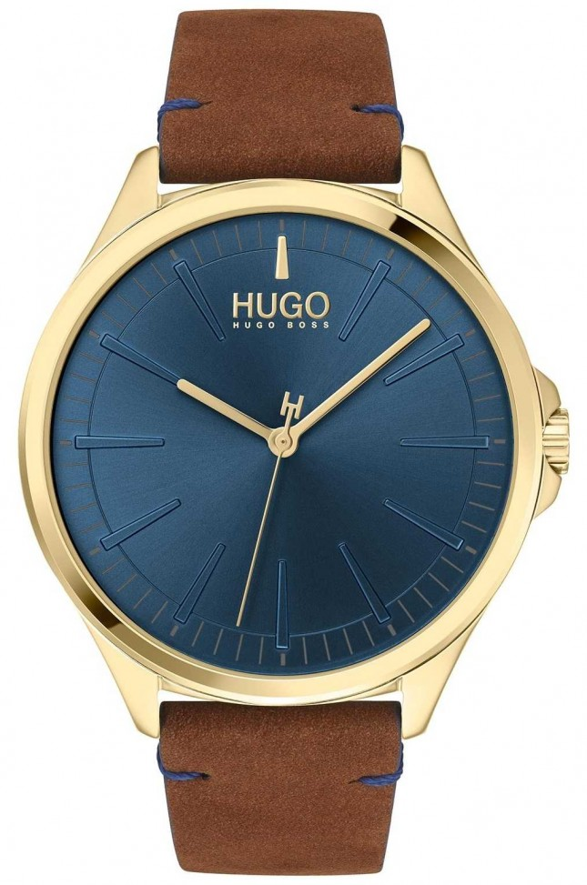 HUGO #SMASH | Blue Dial | Brown Leather Strap 1530134