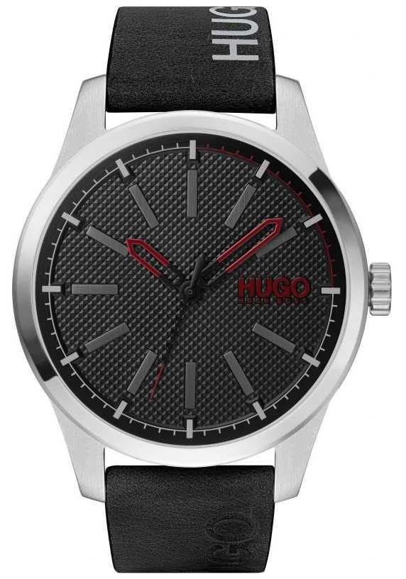 HUGO #INVENT | Black Dial | Black Leather Strap 1530146