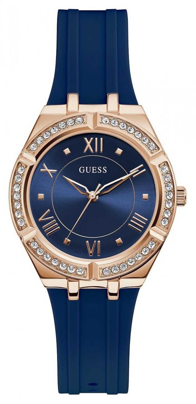 Guess | Women's Cosmo | Blue Rubber Strap | Blue Dial | GW0034L4
