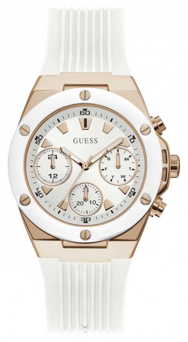 Guess | Women's Athena | White Rubber Strap | White/Silver Dial GW0030L3