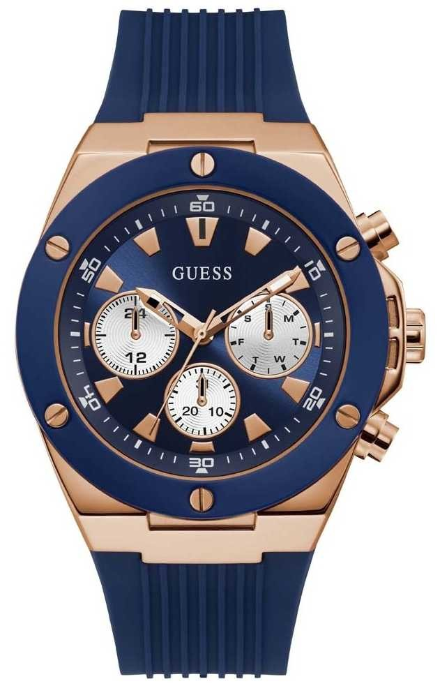 Guess | Men's Poseidon | Blue Rubber Strap | Blue Dial | GW0057G2