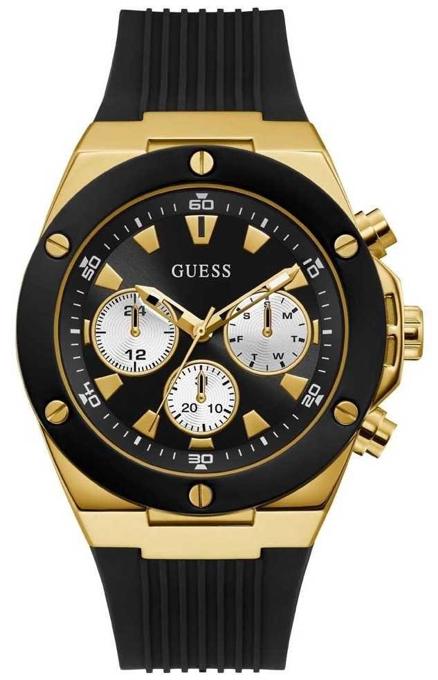 Guess | Men's Poseidon | Black Rubber Strap | Black Dial | GW0057G1