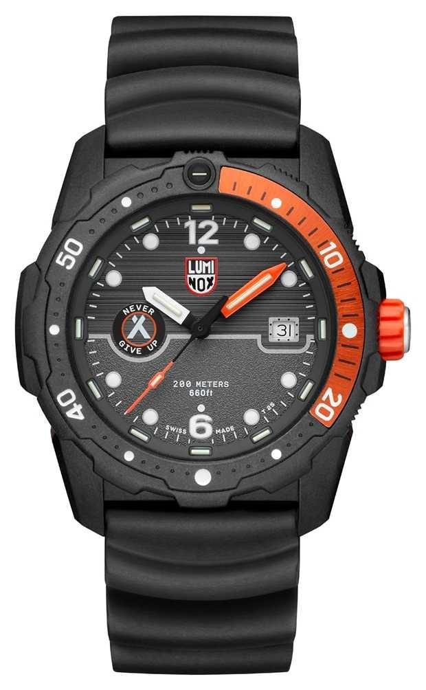 Luminox Mens Bear Grylls Survival Sea 3720 Series Black Orange XB.3729