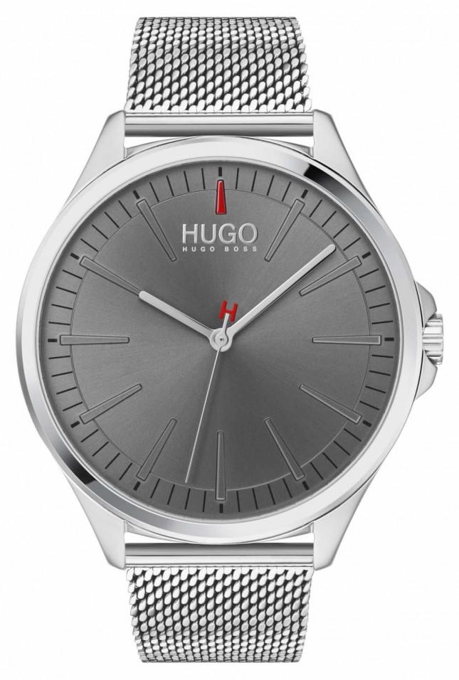 HUGO #SMASH | Silver Mesh Bracelet | Grey Dial | 1530135