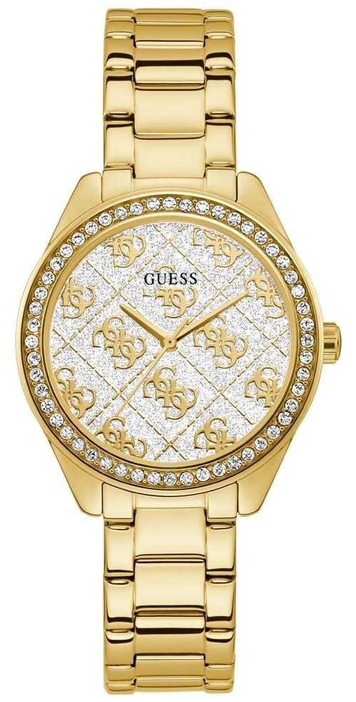 Guess   Women's Sugar   Gold Plated Steel Bracelet   White Dial   GW0001L2