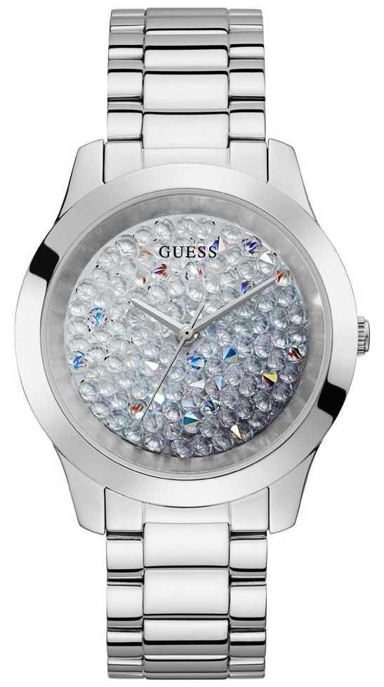 Guess   Women's Crush   Stainless Steel Bracelet   Glitter Dial GW0020L1
