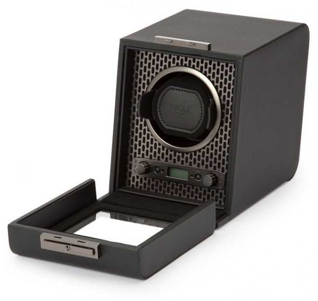 WOLF Axis Powder Coat Single Watch Winder 469103