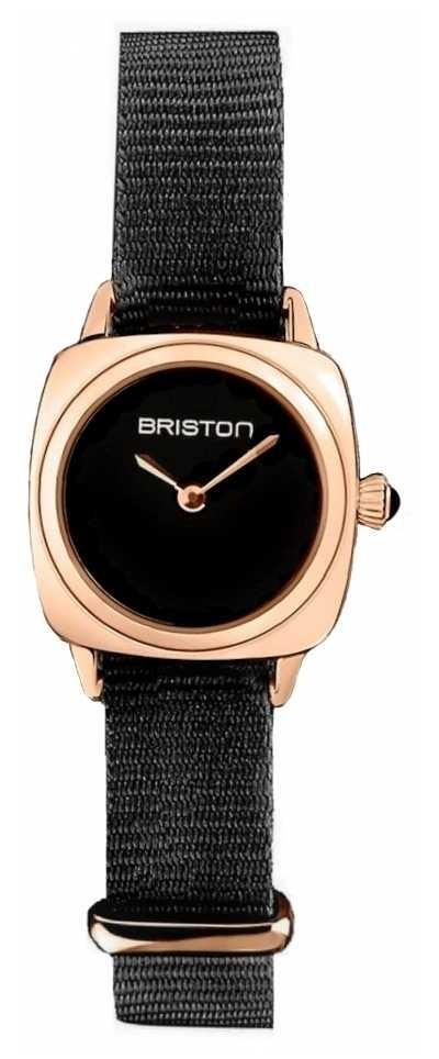 Briston | Clubmaster Lady | Single Black Nato | Rose Gold PVD Case | 19924.SPRG.M.1.NB – SINGLESTRAP