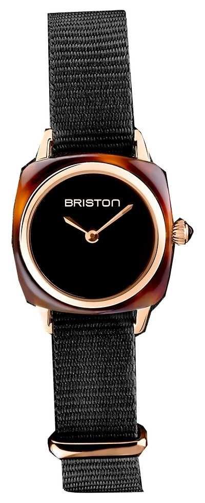Briston | Clubmaster Lady | Single Black Nato Strap | Tortoise Shell 19924.PRA.T.1.NB- SINGLESTRAP