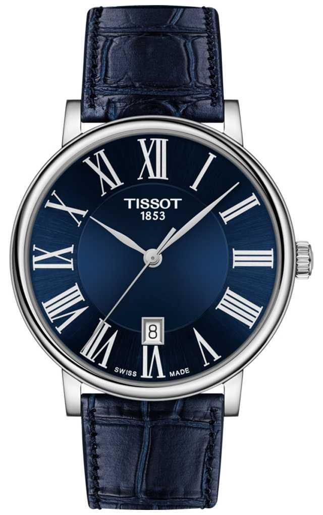 Tissot   Men's   Carson Premium   Blue Leather Strap   Blue Dial   T1224101604300