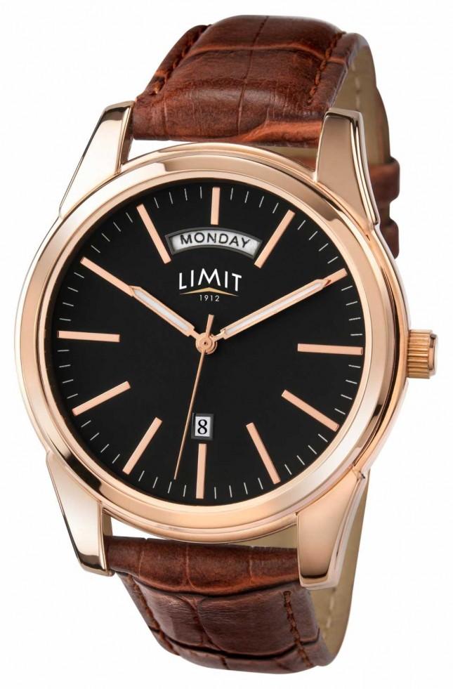 Limit Mens Brown Strap Black Dial 5484.01