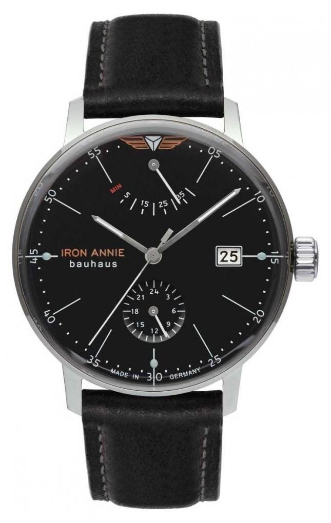 Iron Annie Bauhaus | Automatic | Black Leather Strap | Black Dial 5060-2