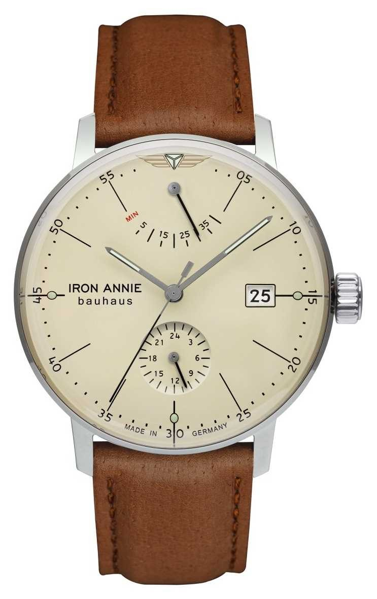 Iron Annie Bauhaus   Automatic   Light Brown Leather Strap   Beige Dial 5060-5