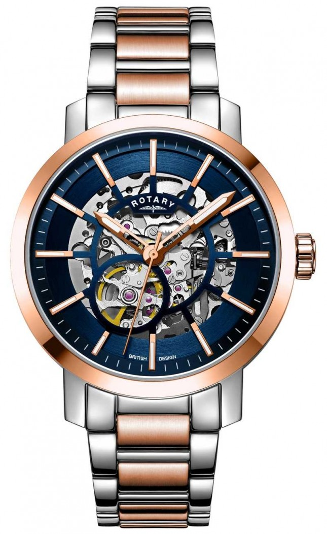 Rotary Greenwich G2 Automatic | Two-Tone Bracelet | Skeleton Dial GB05352/05