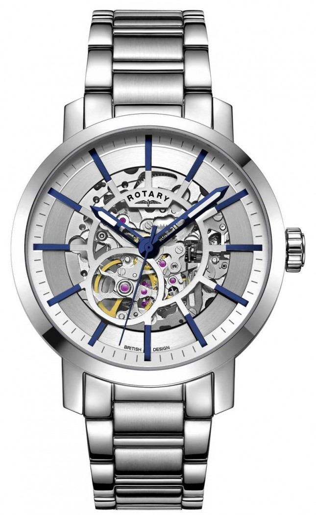 Rotary Greenwich Automatic | Stainless Steel Bracelet | Silver Dial GB05350/06