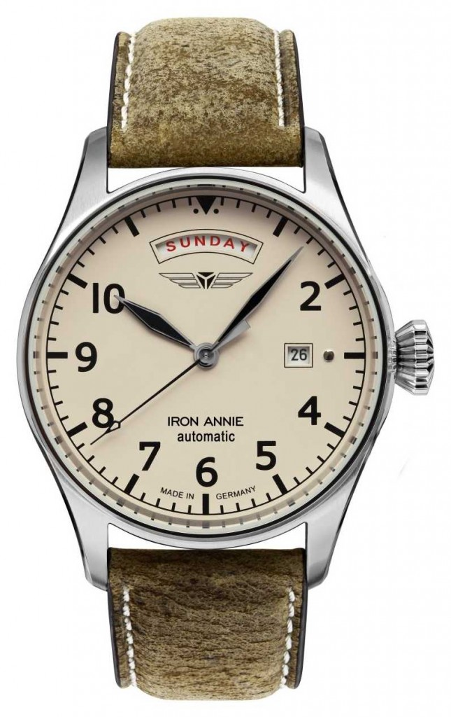 Iron Annie Flight Control Automatic | Brown Leather Strap | Beige Dial 5164-3