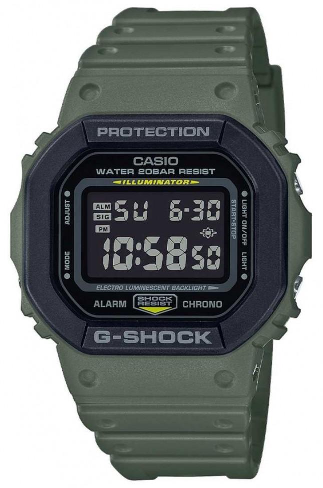 Casio G-Shock | Green Rubber Strap | Digital Display DW-5610SU-3ER