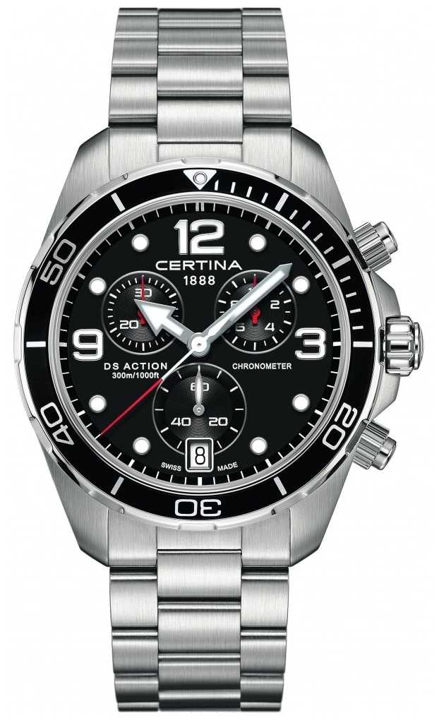 Certina DS Action Chrono   Chronometer    Stainless Steel Bracelet C0324341105700