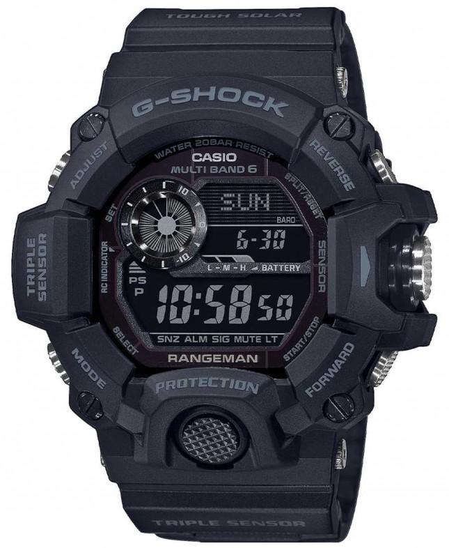 Casio G-Shock Rangeman | Blackout Tough Solar Radio Controlled | GW-9400-1BER