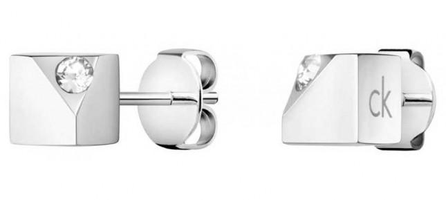 Calvin Klein Tune | Stainless Steel Crystal Stud Earrings KJ9MME040600