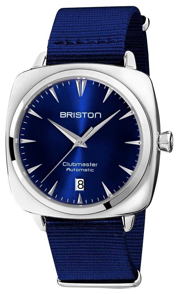 Briston Clubmaster Iconic Auto   Blue NATO Strap   Blue Dial 19640.PS.I.9.NNB