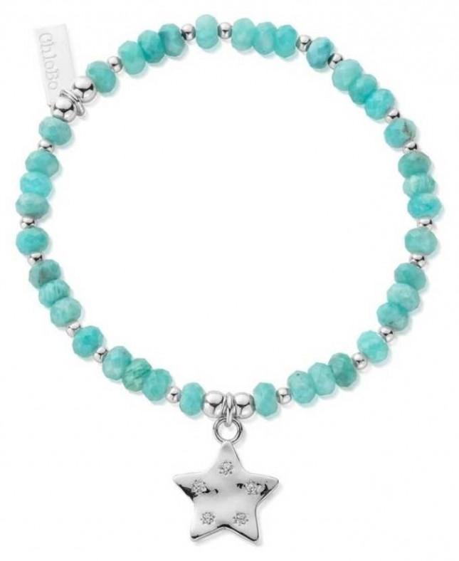 ChloBo Quinary Star   Amazonite Bead Bracelet SBA3027