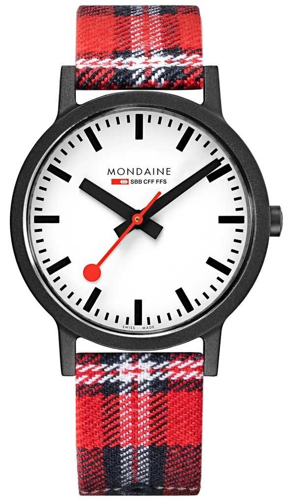 Mondaine Men's 41 mm Essence Tartan Strap Watch MS1.41111.LC