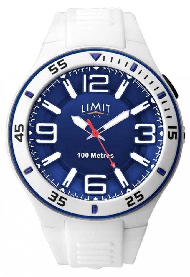 Limit Unisex   White Rubber Strap   Blue Dial 5763.65