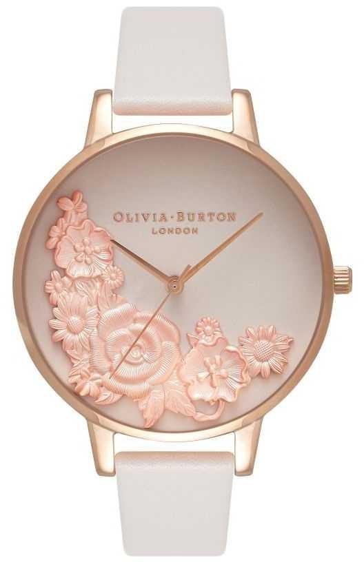 Olivia Burton Pink Dials | Blush Leather Strap | Floral Dial OB16FS85