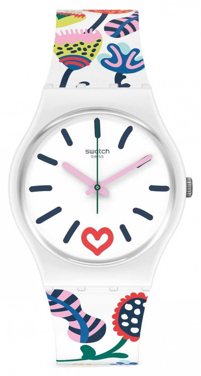 Swatch JUST FLOWERS | Lovely Garden | Multi-coloured Silicone Strap GW213
