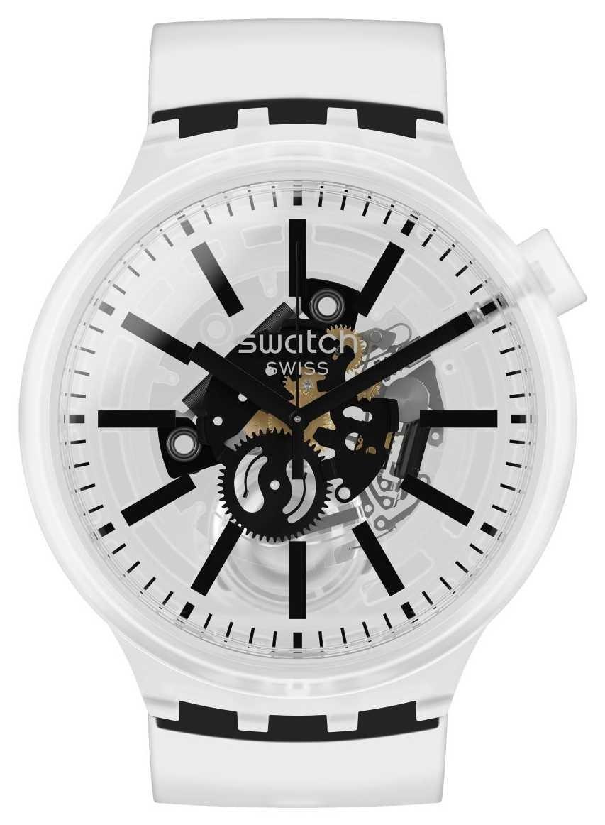 Swatch BLACKINJELLY | Big Bold | Clear Strap SO27E101