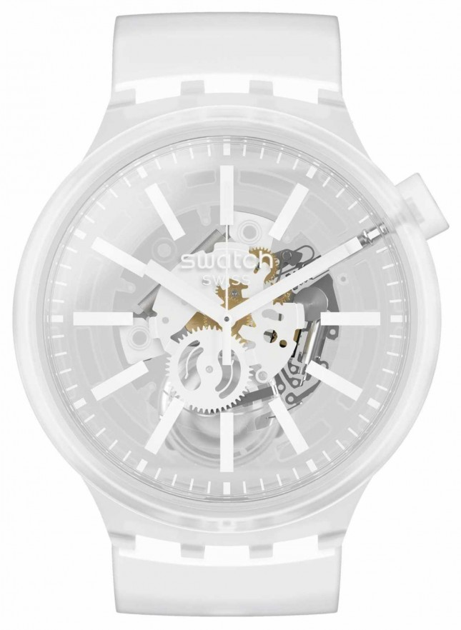 Swatch WHITEINJELLY | Big Bold | Clear Strap SO27E106