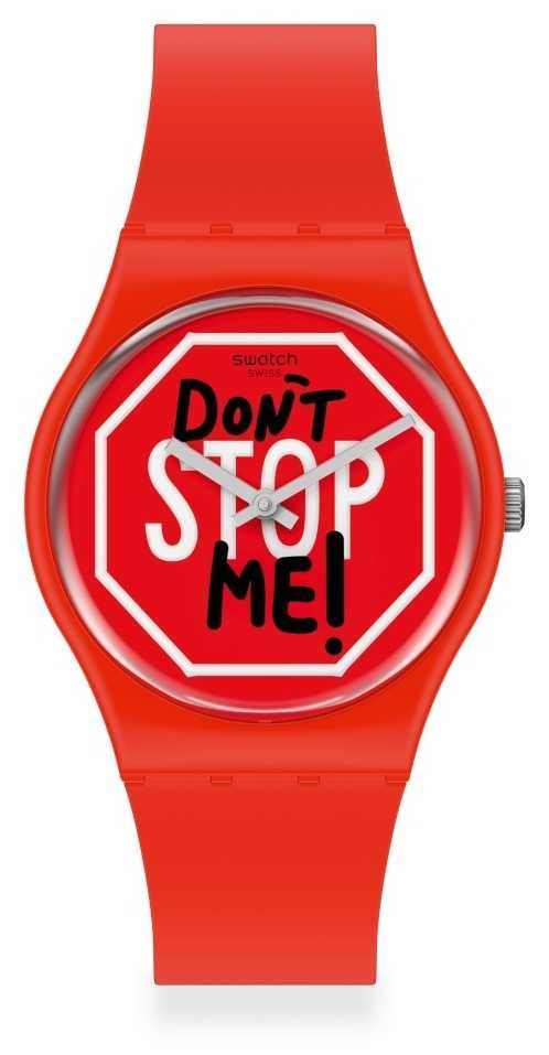 Swatch DON'T STOP ME Unisex rubber strap watch GR183