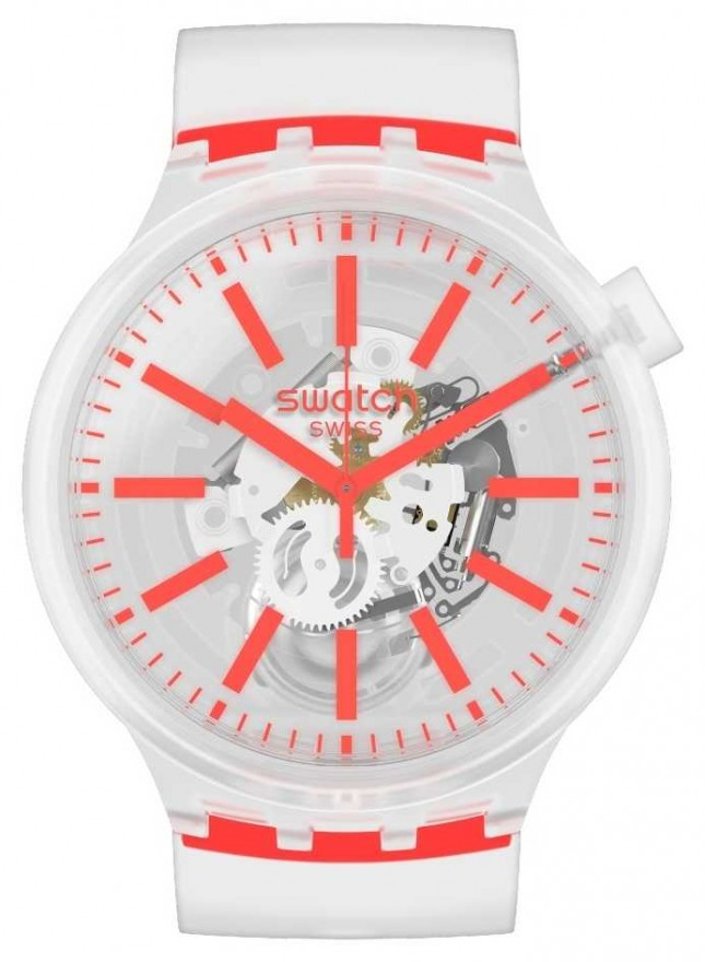 Swatch ORANGINJELLY | Big Bold | Clear Strap SO27E102
