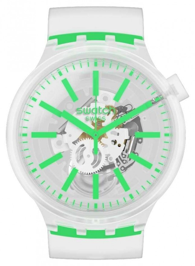 Swatch GREENINJELLY | Big Bold | Clear strap SO27E104